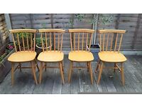 Solid Wood Ercol Style Chairs