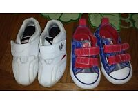 Lacoste 6 and converse all star 5 kids shoes....