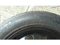 Car wheel c/with tyre.
