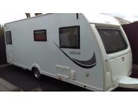 2014 lunar venus 490/4 4 berth touring caravan with fixed bed