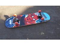 Spiderman skateboard FREE HELMET