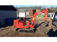 Yanmar YB10 1.1 Ton mini digger. Really clean works well.