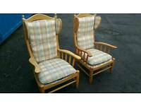Solid wood armchairs very comfy