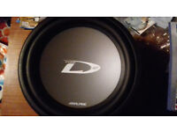 "Alpine type D 12"" subwoofer"