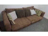 4 seater cord sofa
