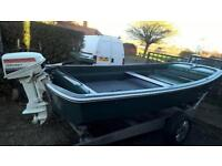 Dory 14ft fishing boat and trailer
