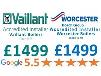 5.0 Google Reviews/Boiler Repair£59,Service£59/Boiler Supply&Installation £999/Gas Certificate£59