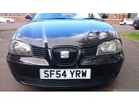 SEAT IBIZA 1.2SX petrol black 2004 reg, top of the range model for its time unique gear and interior