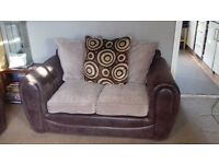 3 & 2 x seater sofas brown and cream