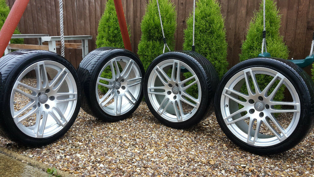 genuine audi alloys wheels 255 35 r19 et43 5x112 in leicester leicestershire gumtree. Black Bedroom Furniture Sets. Home Design Ideas