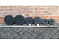 DOMYO 41KG CAST IRON WEIGHTS SET