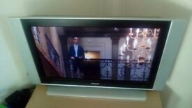 "Philips 37"" tv for sale with remote control"