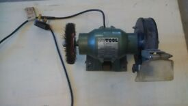 Small bench grinder and wire wheel
