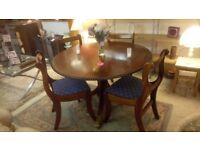 Gorgeous barley twist mahogany dining table & 4 chairs ONLY £65 Local DELIVERY Stalybridge SK15 3DN