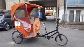 RICKSHAW / PEDICAB WITH MANY NEW PARTS INCLUDING NEW TIRES