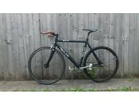 DOLAN single speed fixed gear bicycle lightweight 21.5 inch frame carbon fork