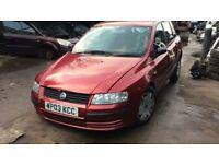2003 Fiat Stilo 16v Active AC 5dr Hatchback 1.6L Petrol Red BREAKING FOR SPARES