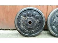 2x10kg caste iron weights plates