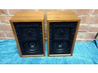 GOODMANS LS3/5A CLASSIC VINTAGE SPEAKERS, ORIGINAL FULLY WORKING, 15 OHM, SERIAL NUMBERS 2534 & 2535