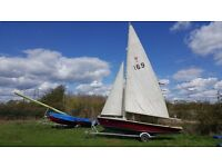 Wineglass 15' Sailing Dinghy with Snipe Road Trailer