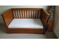 MAMAS & PAPAS OCEAN COT BED IN DARK OAK - £140 ONO