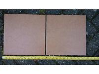 Floor tiles, terracotta colour, 30cm square, qty: 70, over 6 sqm