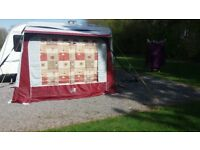Appache Porch awning. rubberised roof to stop rot if left up for a long time. size 8ftx6ft.