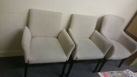 Free Cream Chairs x3 , Pickup Only .