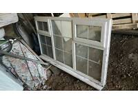 White pvc double glazed window