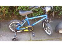 boys bicycle bike with stabilizers urban racer