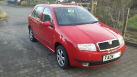 Skoda fabia 1.9 TDi elegance,red,1 lady owner,FSH