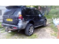 Shogun Sport for sale for spares or repair