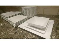 26 white pieces square dinnerware/ dinner set high quality