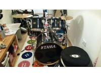 Tama Rockstar 5pc kit with cymbals and hardware