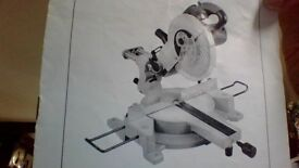 """Bison 10"""" slide compound mitre saw. 1 complete not working (electrical fault) other for spares"""