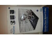Petsential 36 inch Double Door Dog Crate