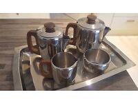 Silver Tea Set on Matching Tray