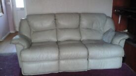 Free leather three piece suite