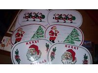 Plastic/Wipeable Christmas place mats & coasters