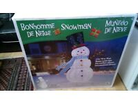 7ft (2.1 m) 329 LED Indoor/Outdoor Pop Up Christmas Snowman Xmas Decoration