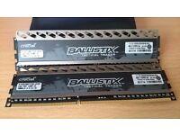 Ballistix Tactical Tracer 2 sticks 4GB Single DDR3 1600 - BLT4G3D1608DT2TXRGCEU
