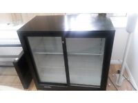 Prodis Double Door Back Bar Bottle Cooler - Sliding Doors 920 x 510 x 900 mm