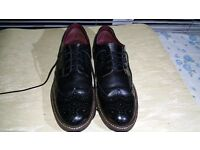 Mens Size 8 Next Black Real leather Borges