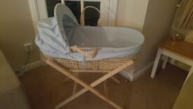 Clair de Lune Moses Basket Complete set with Stand