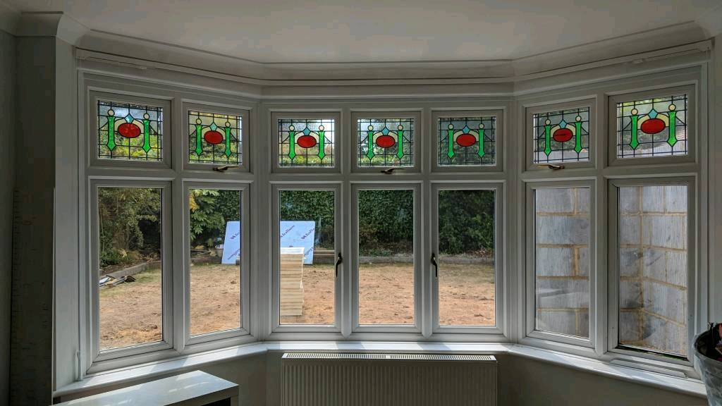 Double Glazed Bay Window With Period Style Stained Glass
