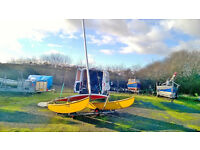 Hobie Catamaran 14', good condition includes road trailer and launching trolley, ready to sail.