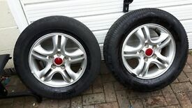 Tyres 16 inch with 235/60/16 tyres (Kia)
