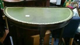 Semi circle hall table