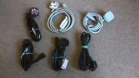 Printer and Computer power leads