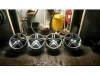 19 Mercedes alloy wheels-alloys fit Audi Vw Seat J 10.5 and J 9